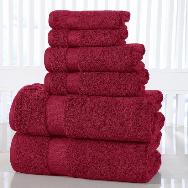 Gravois 6 Piece 100% Cotton Towel Set by Beachcrest Home